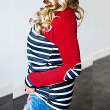 Load image into Gallery viewer, Stripe Round Neck Long Sleeve T-Shirts