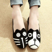 Load image into Gallery viewer, Cartoon Color Block  Flat  Velvet  Round Toe  Casual Outdoor Comfort Flats