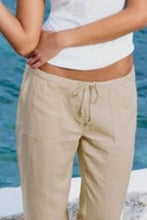 Load image into Gallery viewer, Summer  Casual  Belt  Loops   Plain  Pants