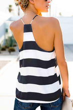 Load image into Gallery viewer, Spaghetti Strap Racerback Striped Camis