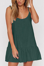 Load image into Gallery viewer, Spaghetti Strap  Backless  Plain  Sleeveless Casual Dresses