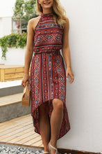 Load image into Gallery viewer, Halter  Asymmetric Hem  Bohemian  Sleeveless Maxi Dresses