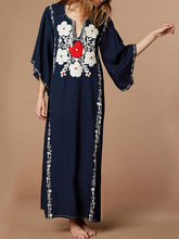 Load image into Gallery viewer, Cotton Embroidered Beach Holiday Casual Dresses