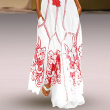 Load image into Gallery viewer, Chinese-Style Printed Cotton And Linen Casual Dress