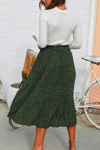 Midi Fitted Date Dot Skirts