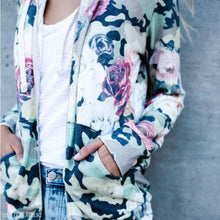 Load image into Gallery viewer, Autumn Winter Loose Hooded Zipper Printed Coat