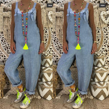 Load image into Gallery viewer, Sexy Slim Thin Jeans Wide Leg Jumpsuit