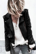 Load image into Gallery viewer, Fashion Casual Slim Plain Thermal V Collar Long Sleeve Zipper Jacket