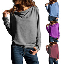 Load image into Gallery viewer, Fashion Long Batwing Sleeve Plain T-Shirts