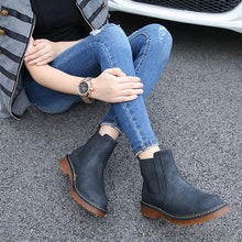 Load image into Gallery viewer, Round Head Plus Cotton Thick Heel Ankle Boots