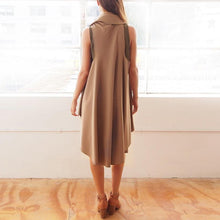 Load image into Gallery viewer, Fashion Asymmetrical Hem Lapel Plain Sleeveless Vests