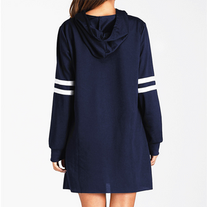Fashion Hat Long Sleeve Casual Personality College Style Against The Color Joker Dress