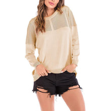 Load image into Gallery viewer, Round Neck Hollow Out Long Sleeve Knitting Sweaters
