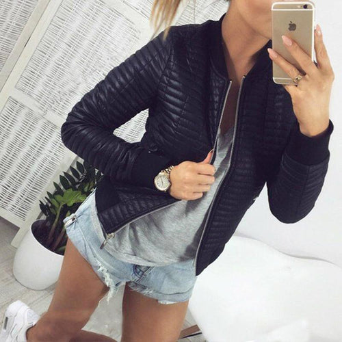Round Neck Zipper Long Sleeve Plain Jackets