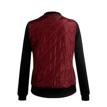 Load image into Gallery viewer, Round Neck Long Sleeve Patchwork Zipper Pocket Jackets