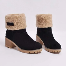 Load image into Gallery viewer, Women Warm Square Heels Multicolor Snow Boots