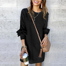 Load image into Gallery viewer, Solid Color Long Sleeve Casual Dress