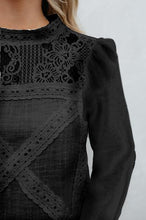 Load image into Gallery viewer, High Neck  Lace Plain  Blouses