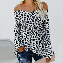 Load image into Gallery viewer, Sexy V-Neck Leopard Print T-Shirt