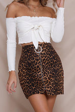 Load image into Gallery viewer, Zipper  Leopard Printed Skirts