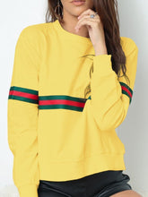 Load image into Gallery viewer, Casual Round Neck  Striped Sweatshirts