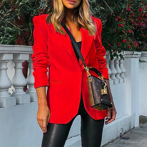 Hot Blazer Women New Suit Slim Work Wear Jacket