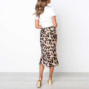 High Waisted Leopard Printed Fashion Skirts