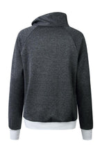 Load image into Gallery viewer, Asymmetric  Neck  Plain  Sweatshirts