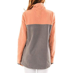 Autumn & Winter Warm Long Sleeve Patchwork Casual Blouse
