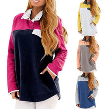 Load image into Gallery viewer, Autumn & Winter Warm Long Sleeve Patchwork Casual Blouse