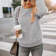 Load image into Gallery viewer, Autumn / Winter Round Neck Long Sleeve Plain Blouse