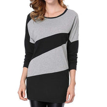 Load image into Gallery viewer, Autumn And Winter Long Sleeve Stitching Knit Dress