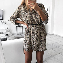 Load image into Gallery viewer, V Neck Fashion Animal Printed Casual Dress