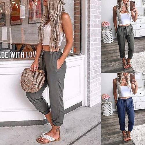 Fashion Imitation Hemp Harlan Loose Pants