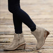 Load image into Gallery viewer, Stylish Fall Middle Heel Hollow-Carved Women Boots