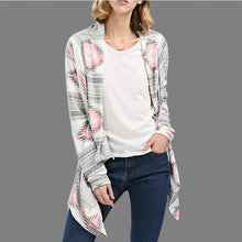 Load image into Gallery viewer, Loose Fitting  Abstract Print Knit Cardigans