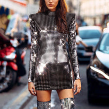 Load image into Gallery viewer, Sequined Hip Long Sleeve Party Dresses