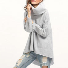 Load image into Gallery viewer, Turtle Neck Long Sleeve Loose Fashion Sweatshirts
