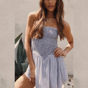 Sexy Off Shoulder Split Joint Shift Dress