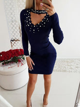 Load image into Gallery viewer, Beading  Plain Bodycon Dresses