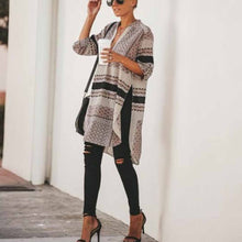 Load image into Gallery viewer, Fashion Casual Loose   Print Long Sleeve Irregular Blouse