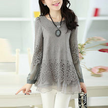 Load image into Gallery viewer, Asymmetric Hem  Hollow Out Plain Long Sleeve T-Shirt