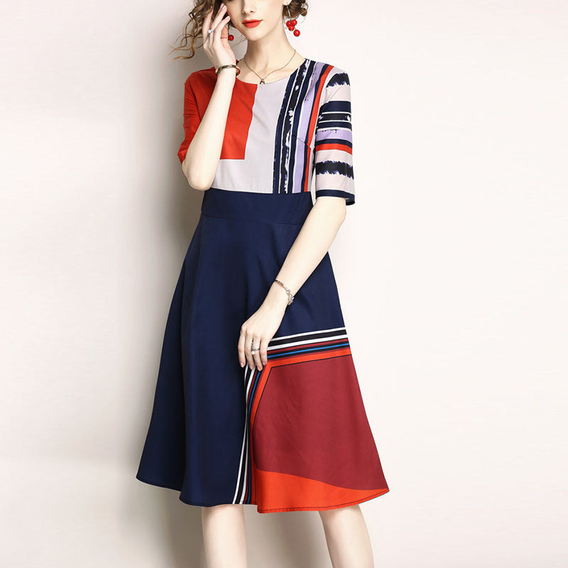 Fashion Printed Slim Slimming Dress