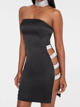 Load image into Gallery viewer, Strapless  Cutout  Plain Bodycon Dresses
