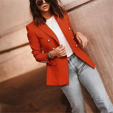 Load image into Gallery viewer, Autumn And Winter   Fashion Pure Color Suit Jacket