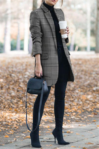 Autumn And Winter   Vintage Printing Suit Jacket