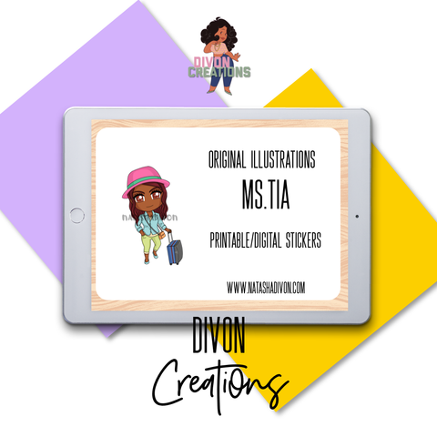 Traveling Tia Digital Stickers