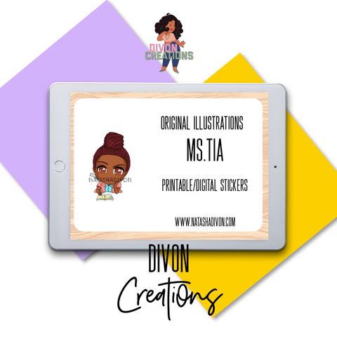 Planning Tia Digital Stickers