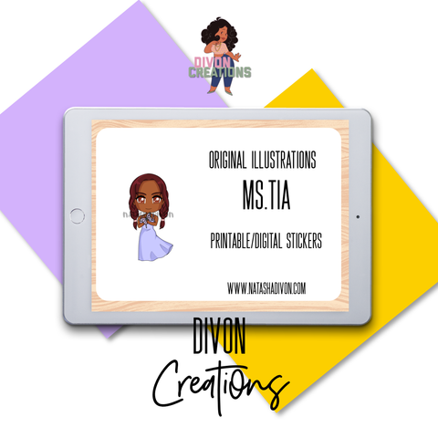 Stress free Tia Digital Stickers