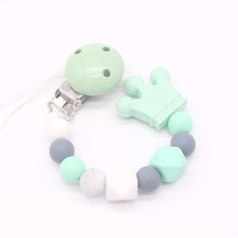 Dummy Baby Teething Infant Pacifier Chain Soother Clip Nipple Holder Chew Toy